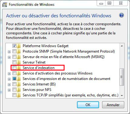 service d'indexation windows 7